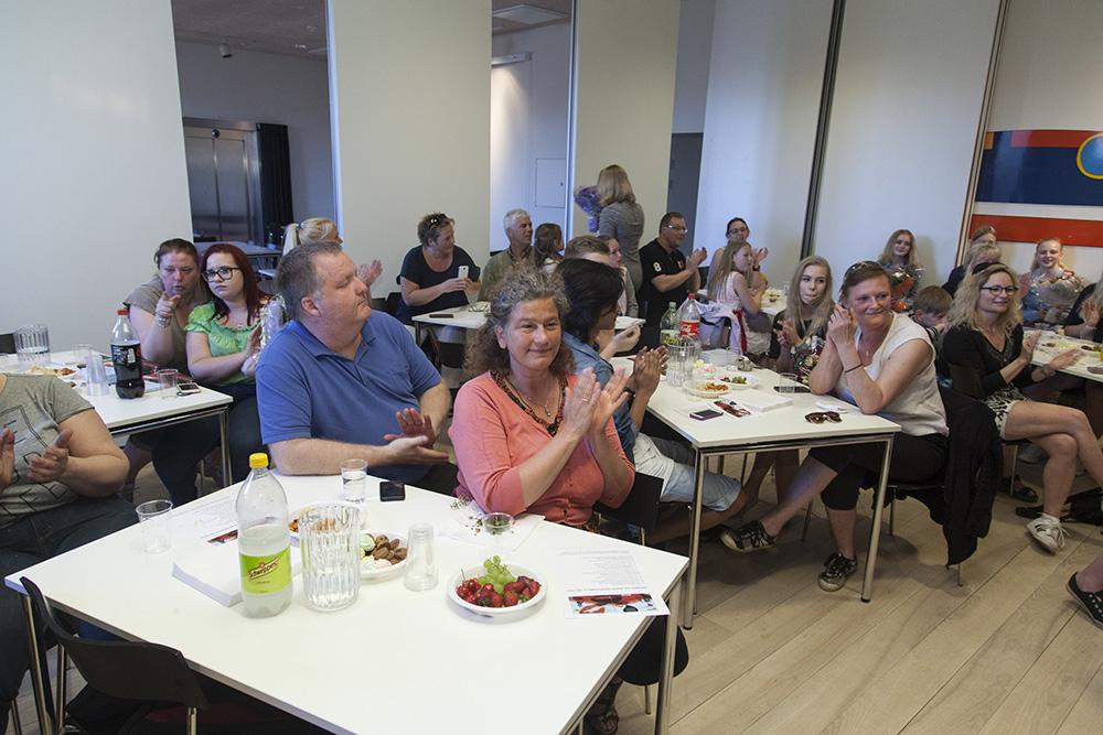 Reception for Voxpop.Biblioteket/Aksen, Asnæs.12. maj 2016.